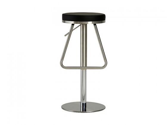 Chill 2 - Barová židle (nerez, eko kůže černá)
