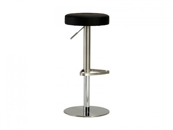 Chill 3 - Barová židle (nerez, eko kůže černá)