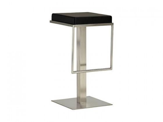 Chill 4 - Barová židle (nerez, eko kůže černá)