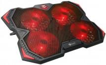 """Chladící podložka C-TECH Zefyros GCP-01R, 17,3"""", červené podsv."""