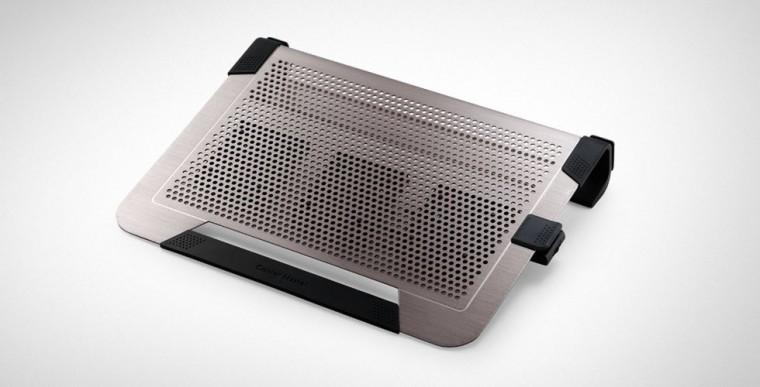 Chladící podložky Cooler Master ALU NotePal U3 Plus, stříbrná