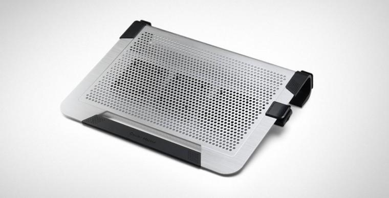Chladící podložky Cooler Master ALU NotePal U3 Plus, stříbrná ROZBALENO
