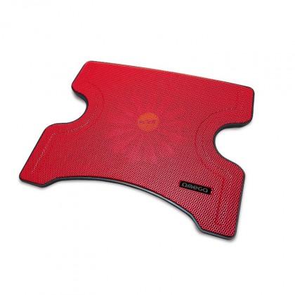 Chladící podložky OMEGA chladící podložka FRIDGE 1 ventilátor, 2USB, červená