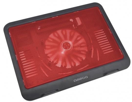 Chladící podložky OMEGA WIND Chladící podložka, 14cm ventilátor, červená