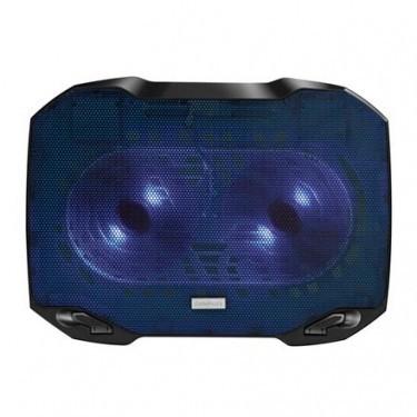 Chladící podložky Podstavec pod notebook OMEGA ARCTIC, 2x  modrý LED 14cm větrák