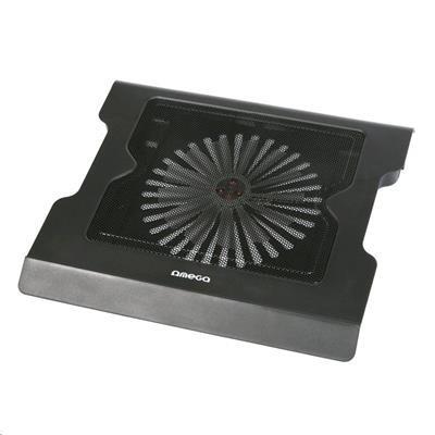Chladící podložky Podstavec pod notebook OMEGA COOLWAVE VADER, 20cm větrák, 2 USB