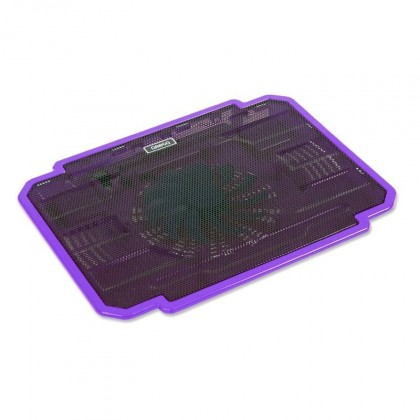 Chladící podložky Podstavec pod notebook OMEGA ICE BOX, 14cm větrák, fialový