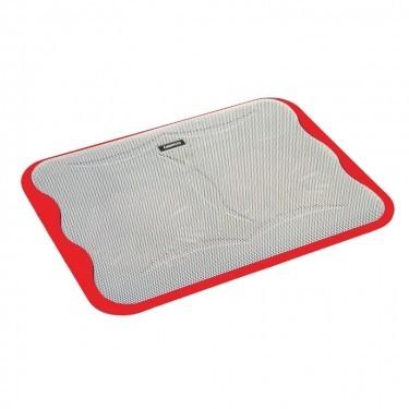 Chladící podložky Podstavec pod notebook OMEGA ICE CUBE, 2x 14cm větrák, červený