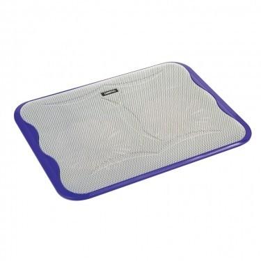 Chladící podložky Podstavec pod notebook OMEGA ICE CUBE, 2x 14cm větrák, fialový