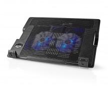 """Chladící stojan na notebook Nedis NBCR200BK, velikost 18"""", černý"""