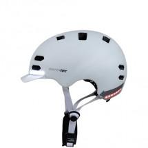 Chytrá helma SafeTec SK8, L, LED blinkry, bluetooth, bílá
