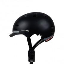 Chytrá helma SafeTec SK8, L, LED blinkry, bluetooth, černá