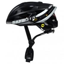 Chytrá helma SafeTec TYR 3, XL, LED blinkry, bluetooth, černá