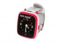 Chytré dětské hodinky Helmer KW 802, červeno-bílá