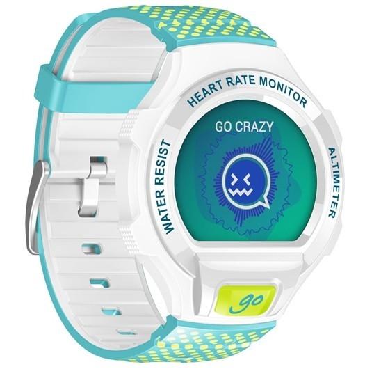 Chytré hodinky ALCATEL ONETOUCH GO WATCH SM03, White/Green&Blue