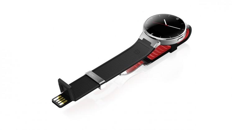 Chytré hodinky ALCATEL ONETOUCH WATCH SM02, Black/Dark Red