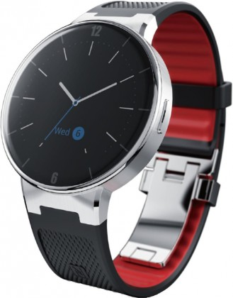 Chytré hodinky ALCATEL ONETOUCH WATCH SM02, Black/Dark Red ROZBALENO