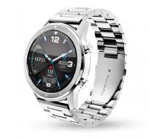 Chytré hodinky Aligator Watch PRO, stříbrná +3 řemínky v balení P