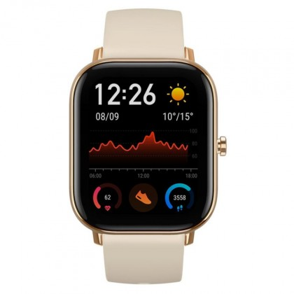 Chytré hodinky Amazfit GTS, zlatá