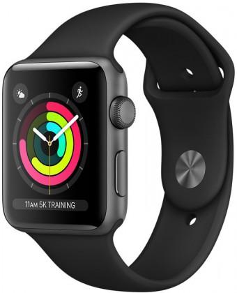 Chytré hodinky Apple Watch Series 3 GPS, 38mm, šedá, sportovní řemínek