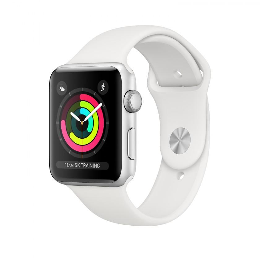 Chytré hodinky Apple Watch Series 3 GPS, 42mm, stříbrná, sportovní řemínek