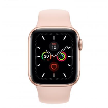 Chytré hodinky Apple Watch Series 5 GPS, 40mm, zlatá, sportovní řemínek