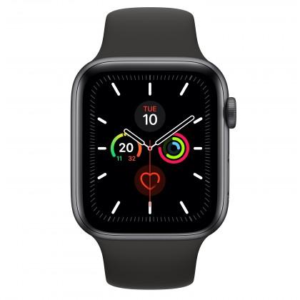 Chytré hodinky Apple Watch Series 5 GPS, 44mm, šedá, sportovní řemínek