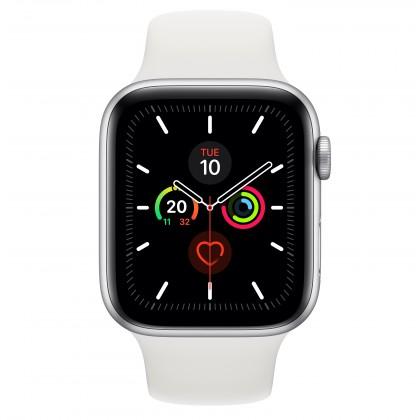 Chytré hodinky Apple Watch Series 5 GPS, 44mm, stříbrná, sportovní řemínek