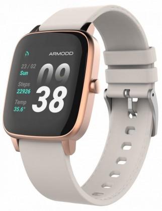 Chytré hodinky Armodd Slowatch, zlatá/růžová