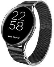 Chytré hodinky Canyon Lemongrass, kovový řemínek, černá