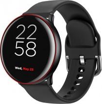 """Chytré hodinky Canyon Marzipan 1,22"""", 2 řemínky, černá/červená"""
