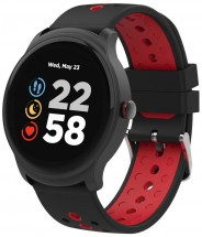 Chytré hodinky Canyon Oregano, 2 řemínky v balení, černo-červená