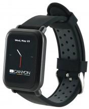 Chytré hodinky Canyon Sanchal, 2x řemínek, kovový+silikon, černá