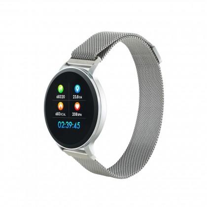 Chytré hodinky Canyon SW71, 2 náramky, stříbrná