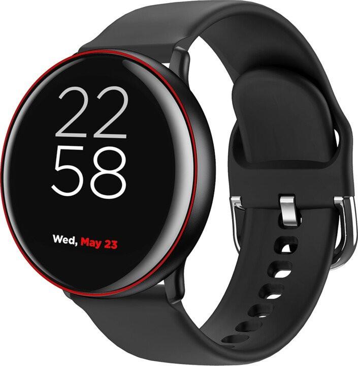 """Chytré hodinky Chytré hodinky Canyon Marzipan 1,22"""", 2 řemínky, černá/červená"""