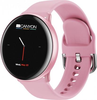"""Chytré hodinky Chytré hodinky Canyon Marzipan 1,22"""", 2 řemínky, růžová"""