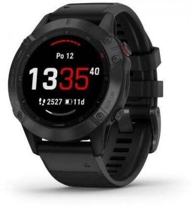 Chytré hodinky Chytré hodinky Garmin Fenix 6 Pro Glass, černá