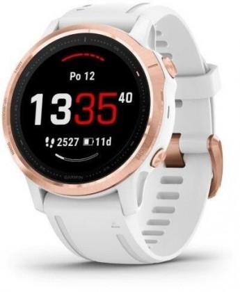 Chytré hodinky Chytré hodinky Garmin Fenix 6S Pro Glass, bílá/růžová