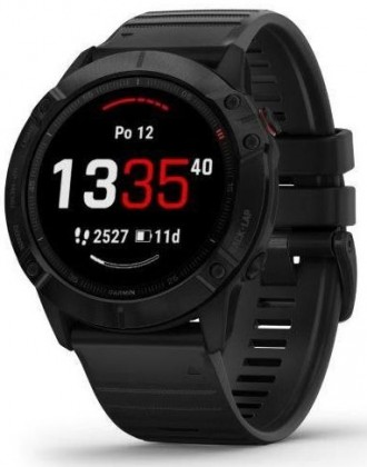 Chytré hodinky Chytré hodinky Garmin Fenix 6x Pro Glass, černá  +Voucher