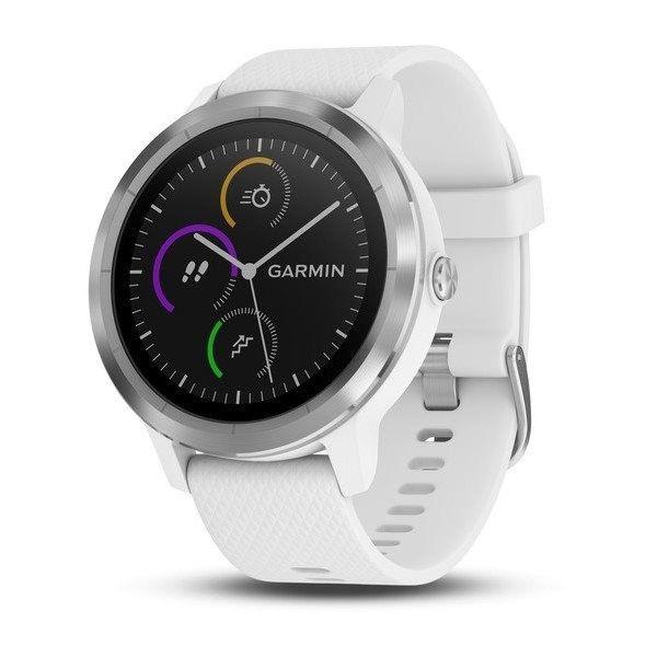 Chytré hodinky Chytré hodinky Garmin VivoActive 3 Optic Silver, bílá
