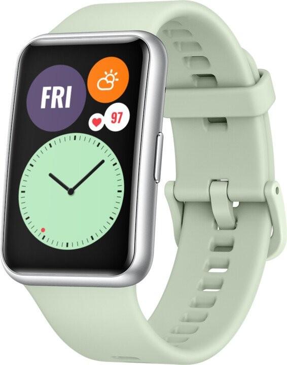 Chytré hodinky Chytré hodinky Huawei Watch Fit, zelená