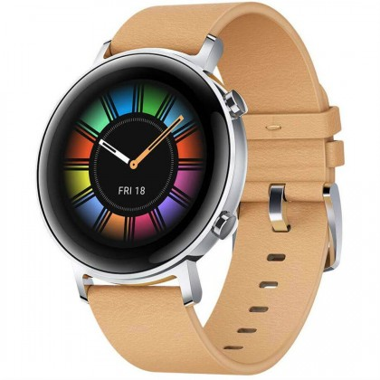Chytré hodinky Chytré hodinky Huawei Watch GT2 42mm, hnědá
