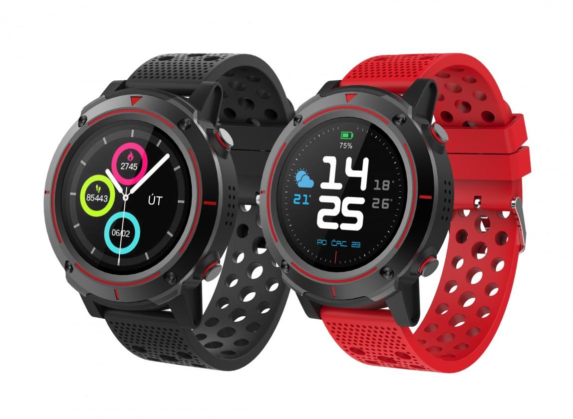 Chytré hodinky Chytré hodinky iGET Active A8, 2 řemínky, černá