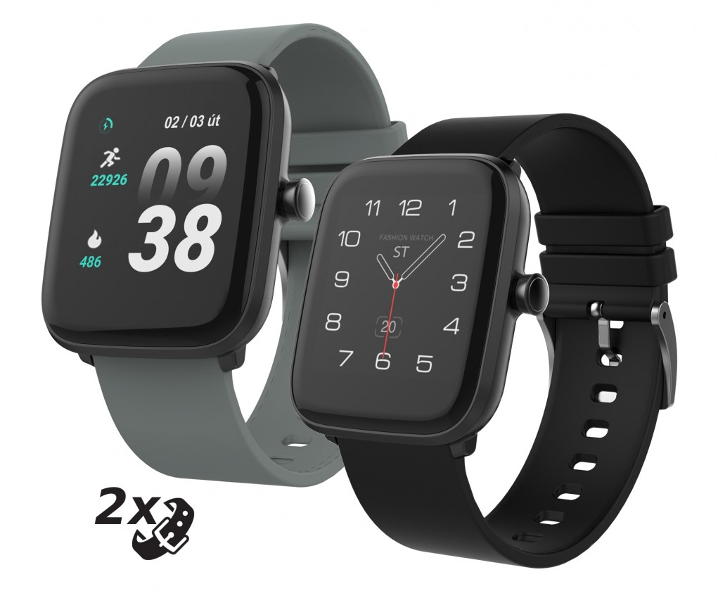 Chytré hodinky Chytré hodinky iGET Fit F25, 2x řemínek, černá