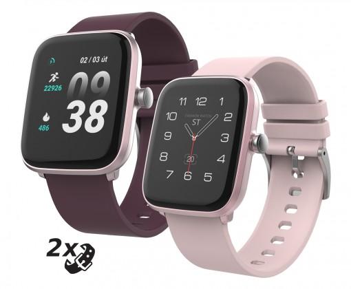 Chytré hodinky Chytré hodinky iGET Fit F25, 2x řemínek, růžová