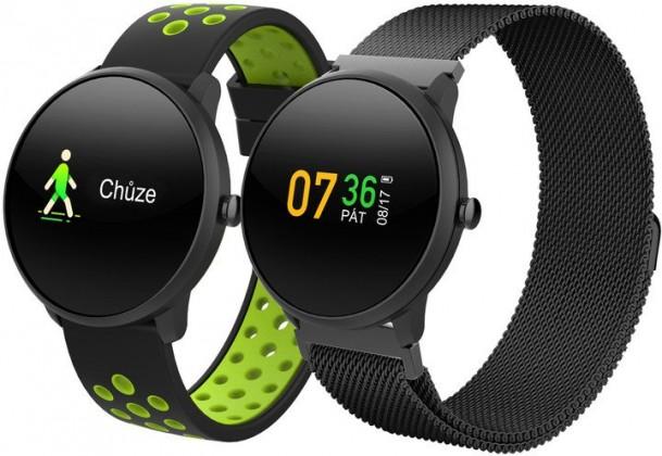 Chytré hodinky Chytré hodinky iGET Fit F4, 2 řemínky, černá