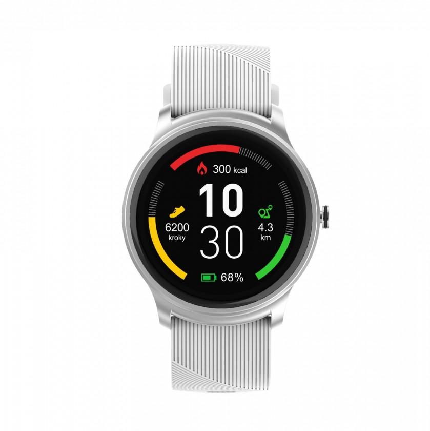 Chytré hodinky Chytré hodinky iGET Fit F6, 2 řemínky, stříbrná