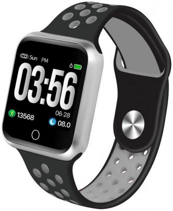 Chytré hodinky Chytré hodinky Immax SW10, černá/stříbrná