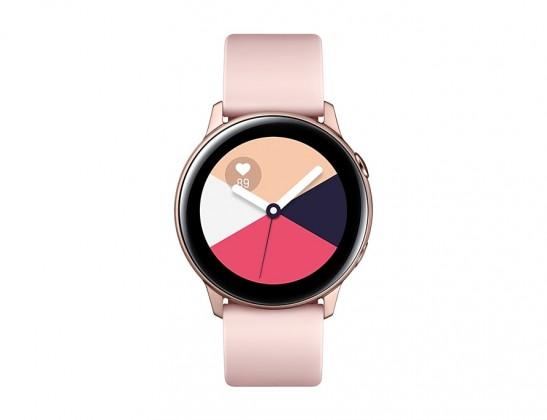 Chytré hodinky Chytré hodinky Samsung Galaxy Watch ActiveR500, růžová/zlatá