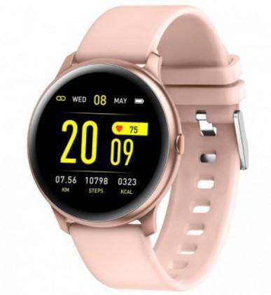 Chytré hodinky Chytré hodinky Smartomat Roundband 2, růžová